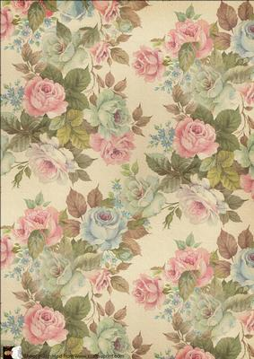 Tapestry Rose Vintage Backing Paper Cup163793 116