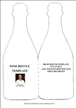 wine bottle template cup98440 116 craftsuprint