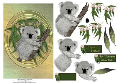 Australian koala greeting card cup104749543 craftsuprint australian koala greeting card m4hsunfo
