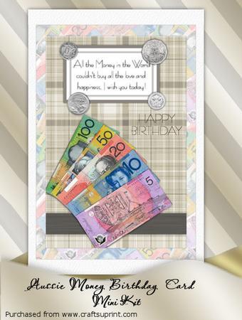 Australian Money Birthday Card Mini Kit