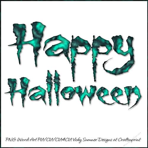 happy halloween word art cup825688_43136 craftsuprint