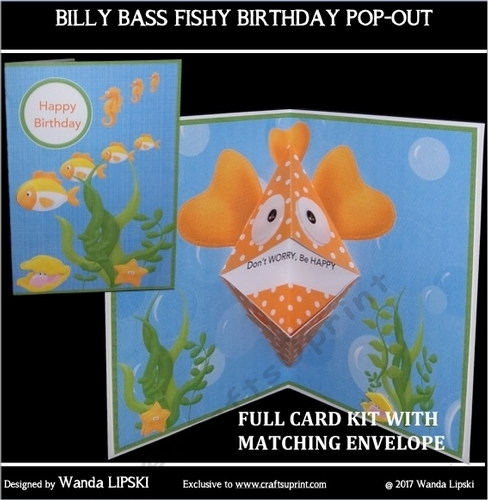Billy Bass Fish Birthday Pop Out Kit Cup8127862237 Craftsuprint