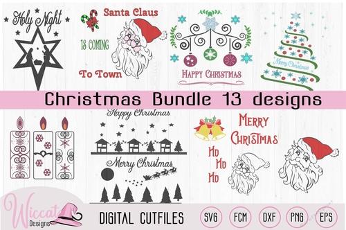Christmas Bundle Tree Candles Branches Santa Nativity Cut Files Cup830360 81588 Craftsuprint