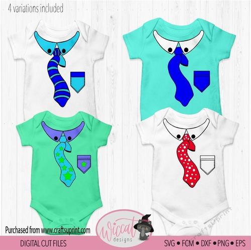 Baby Tie Tie Bundle Kid Tie Neck Tie Baby Suit Digital Cut File Cup884801 81588 Craftsuprint