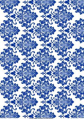 Navy Blue White Damask Background