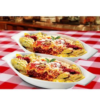 Las 3 Mejores Pastas en 1 sólo plato! 50% de descuento en 2 Tripastas en Restaurante Piccola Italia. En todos los locales!
