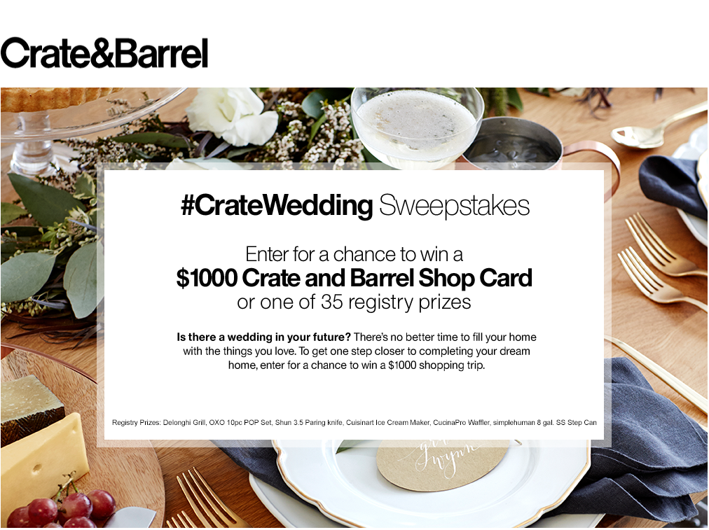 Crate Barrel Wedding Registry.His And Hers Wedding Registry Style With Crate And Barrel
