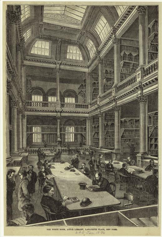 Engraving of the Interior of the Astor Library