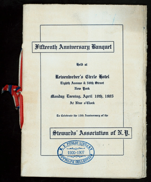Menu from the Buttolph Collection