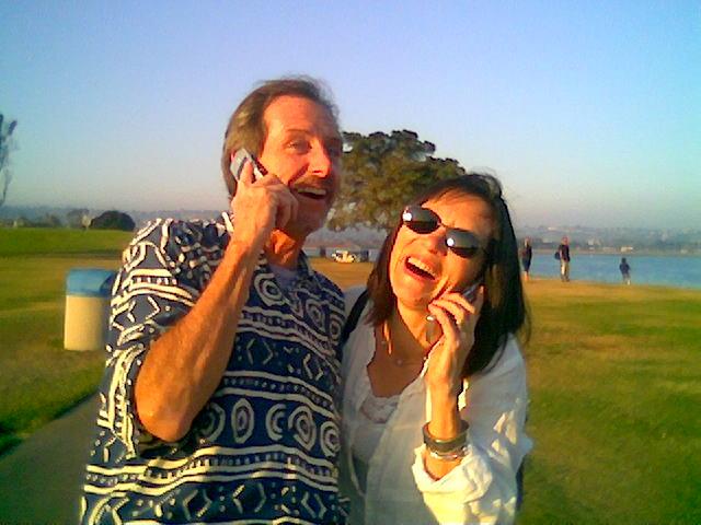 Laughter yoga teachers Khevin and Gaga Barnes.