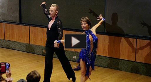 Cancer Survivor Celebrates by Dancing with Scripps Doctor
