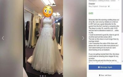 Vende su vestido de novia en Facebook para pagar su divorcio
