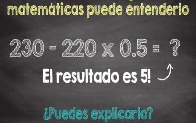 El simple acertijo matemático que (casi) todos fallan