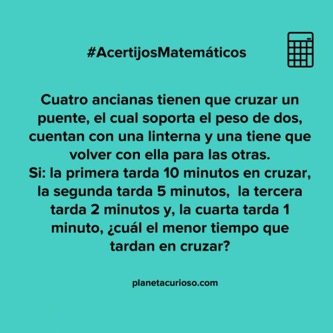 ¿Eres capaz capaz de hallar la solución al acertijo matemático de las 4 ancianas?