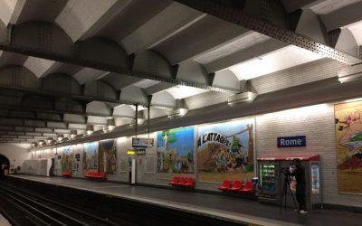 El Metro de París se convierte en una aldea gala en el 60 aniversario de Astérix
