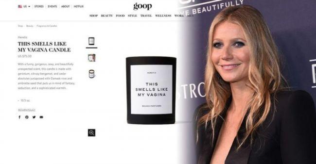 """Gwyneth Paltrow arrasa en ventas con la vela """"que huele como su vagina"""""""