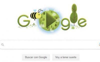 Las abejas, protagonistas del doodle de Google en el Día de la Tierra