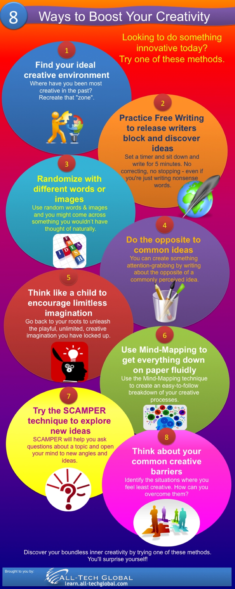 8 Ways to Boost Your Creativity Infographic