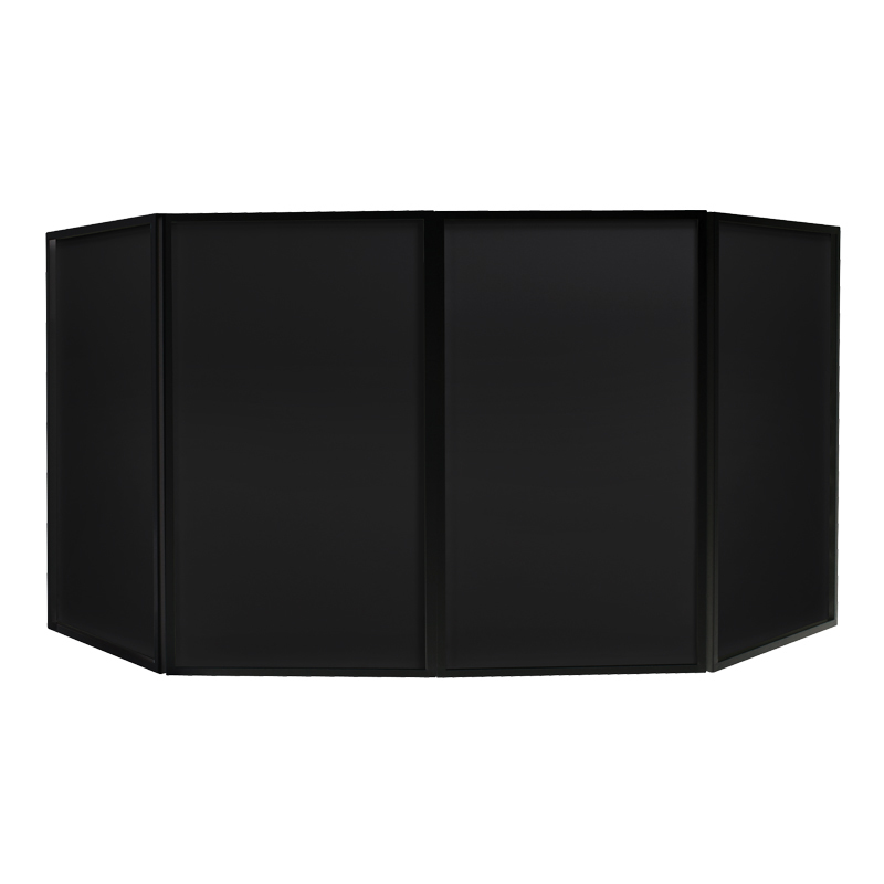 DJ Booth with Black Foldable Surround