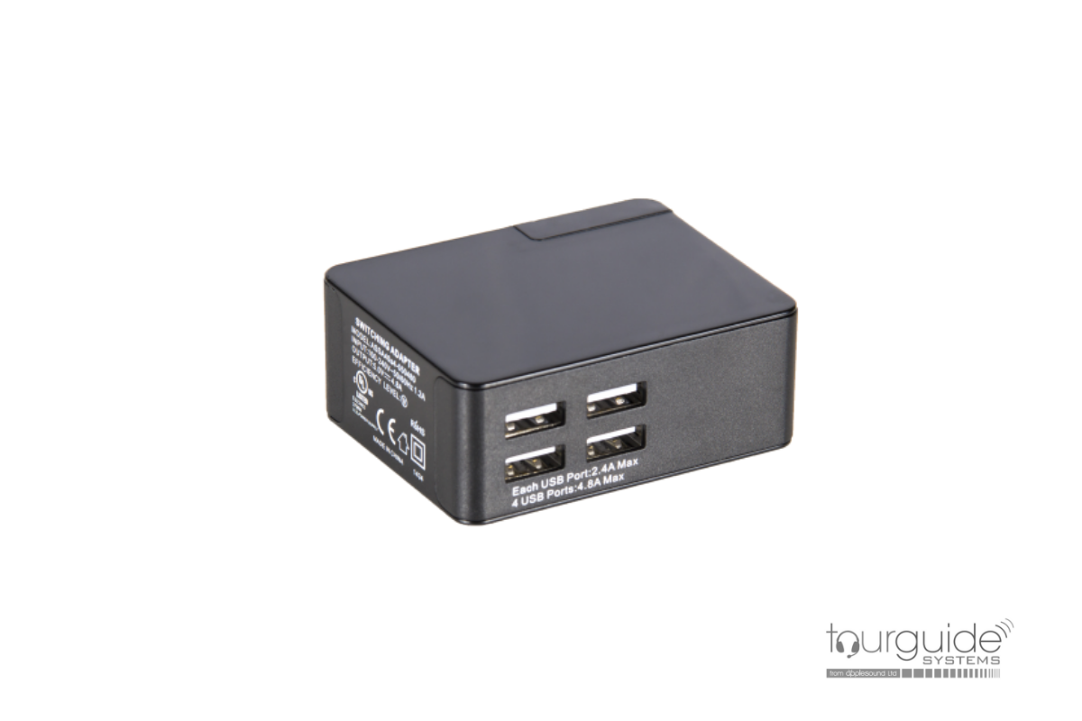 LA-423 4-PORT USB ListenTALK Charger