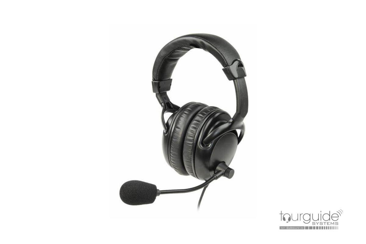 ListenTALK Headset 4 - Over Ears Dual w/Boom Mic (LA-454)