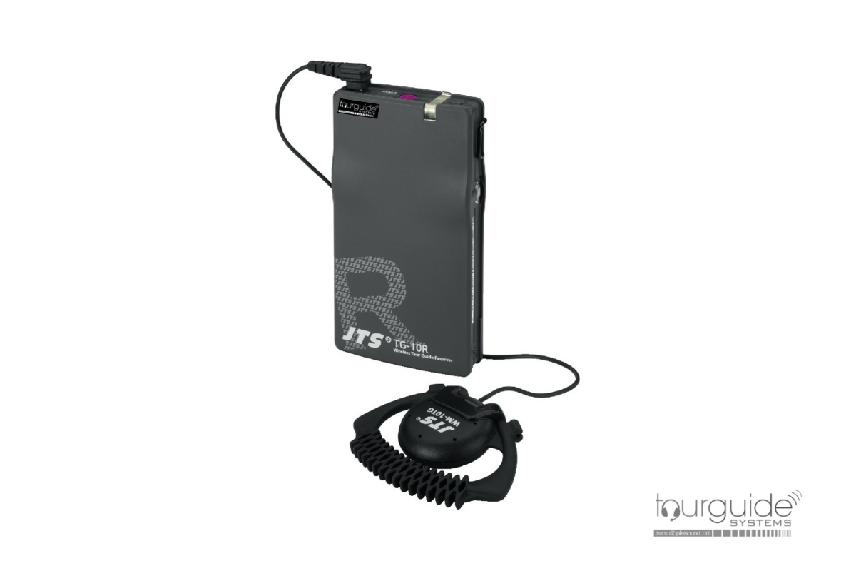 JTS TG-10R/WM-10TG pocket tourguide receiver & ear-phone