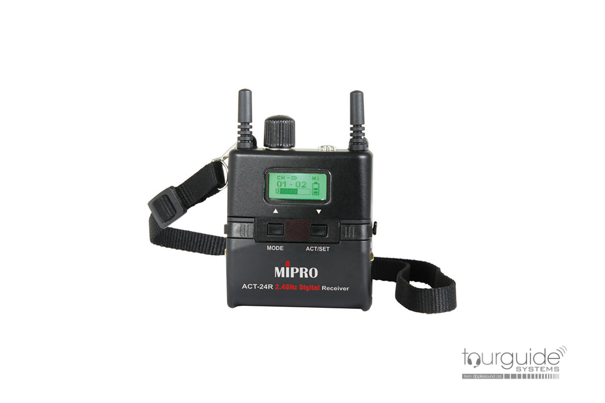 MIPRO ACT-24R Miniature 2.4GHz Tour Guide Receiver