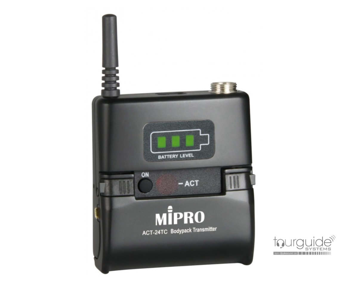 MIPRO ACT-24TC Digital Bodypack Tourguide Transmitter 2.4GHz