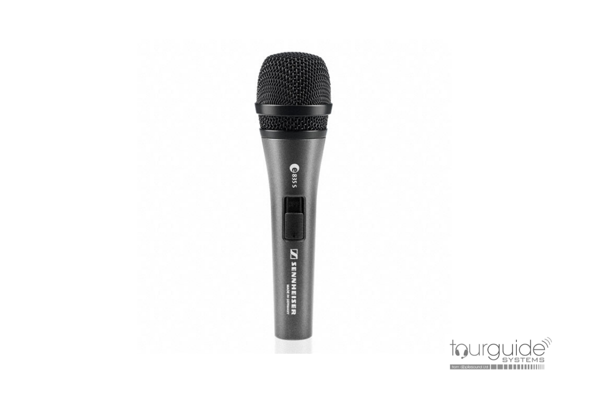 Sennheiser e835s hand-held, switched microphone
