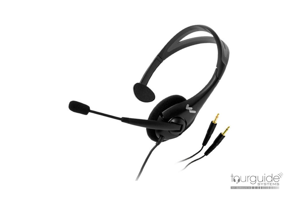 MIC044-2P Single-side headphone with boom microphone