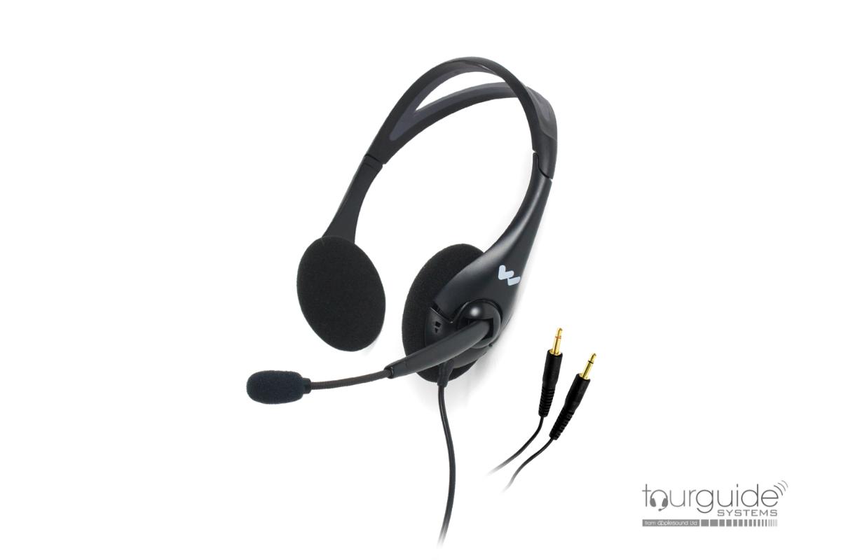 MIC045 - dual-sided headphone with boom microphone