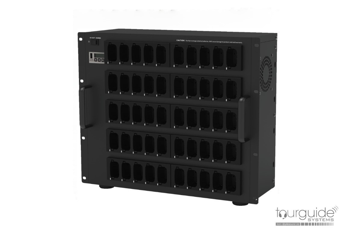 ATS-850PS 50-bay Charger Rack for ATS-80 Devices