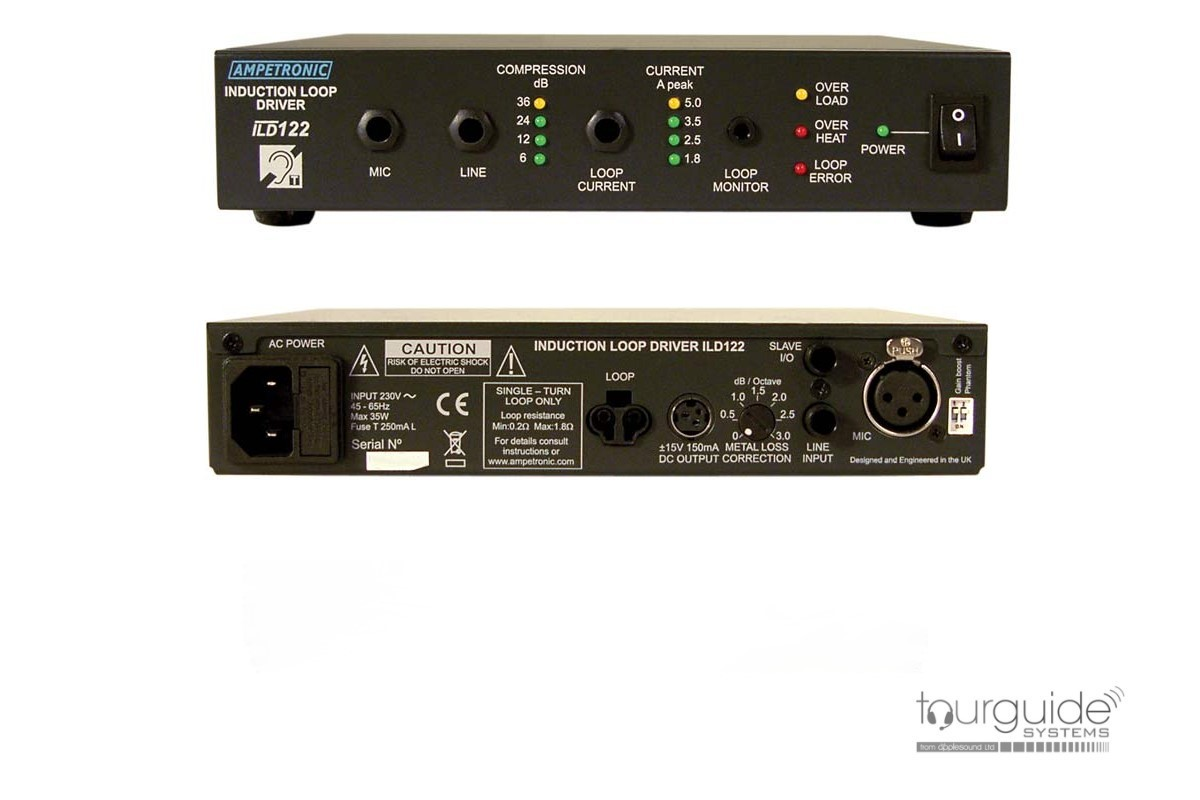 Ampetronic ILD122 induction loop amplifier