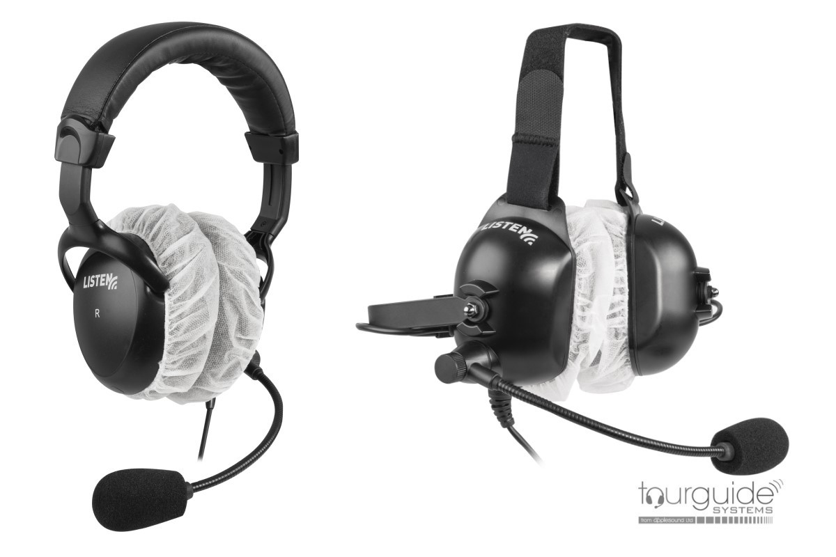 LA-169 Large Sanitary Covers for Stereo Headphones