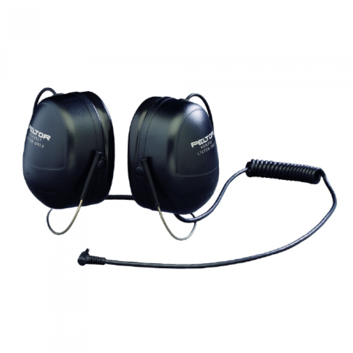 Peltor listen only high-attenuation rear-wear headset