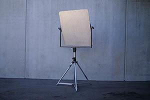 3 x 3' Hardboard Reflector - White/Silver