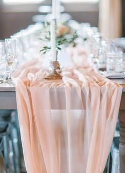 Blush pink table runner - Splash Events, Noosa & Sunshine Coast