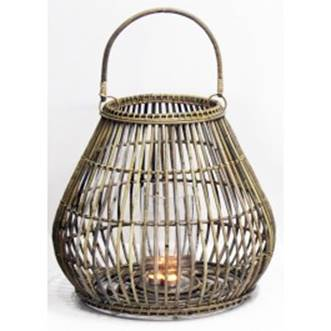 Natural cane round floor lantern - Splash Events, Noosa & Sunshine Coast