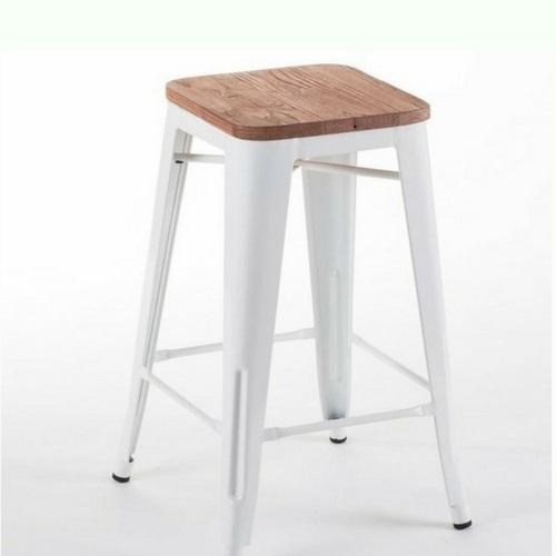 Timber top tolix bar stool - Splash Events, Noosa & Sunshine Coast