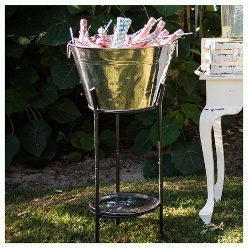 Stainless Steel drinks tub on stand - Splash Events, Noosa & Sunshine Coast
