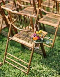 Natural bamboo chairs - Splash Events, Noosa & Sunshine Coast