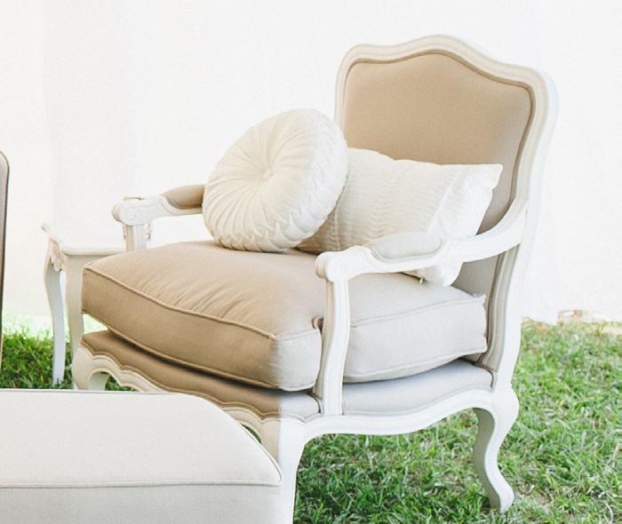 Provence arm chair - Splash Events, Noosa & Sunshine Coast