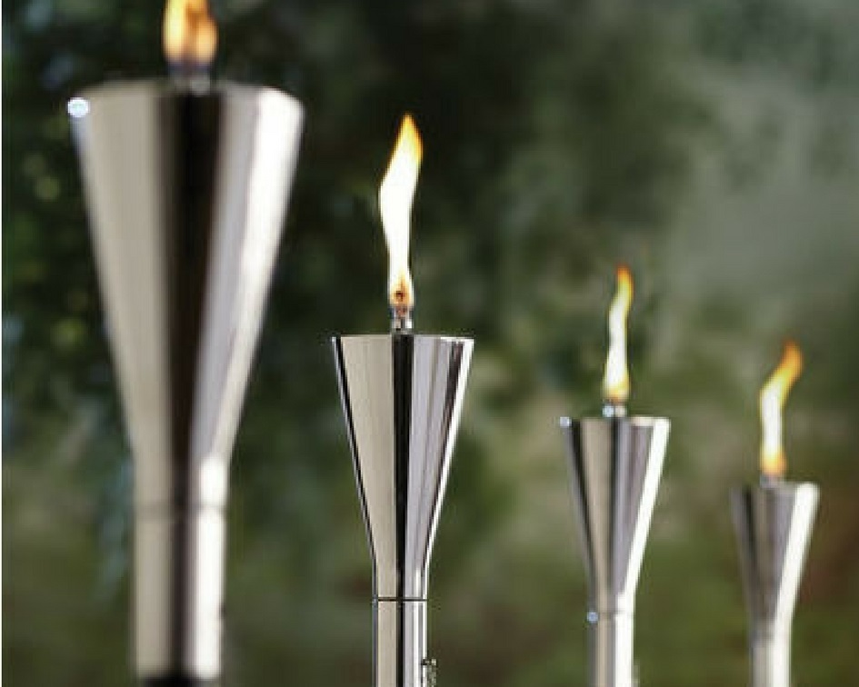 Tiki torches stainless steel - Splash Events, Noosa & Sunshine Coast