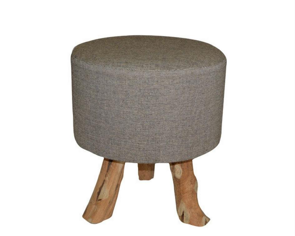 Madras taupe stool - Splash Events, Noosa & Sunshine Coast