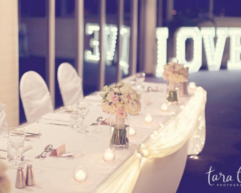 Decorated bridal table - Splash Events, Noosa & Sunshine Coast