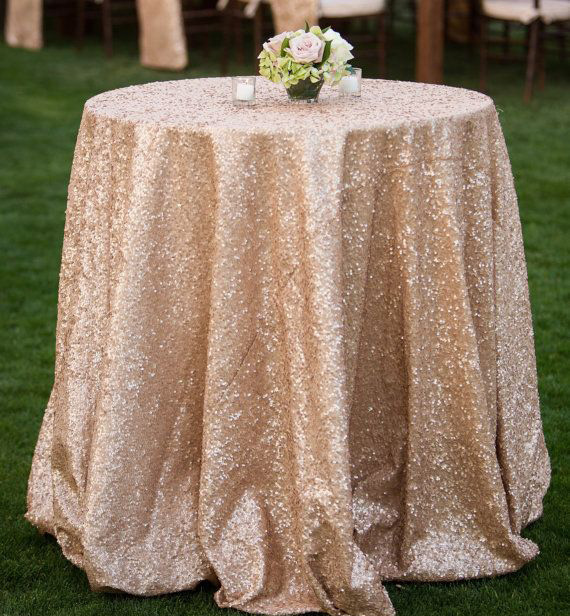 Rose gold sequin tablecloth - Splash Events, Noosa & Sunshine Coast