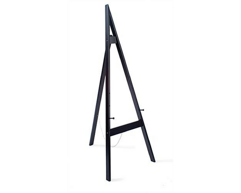 Black wooden easel - Splash Events, Noosa & Sunshine Coast