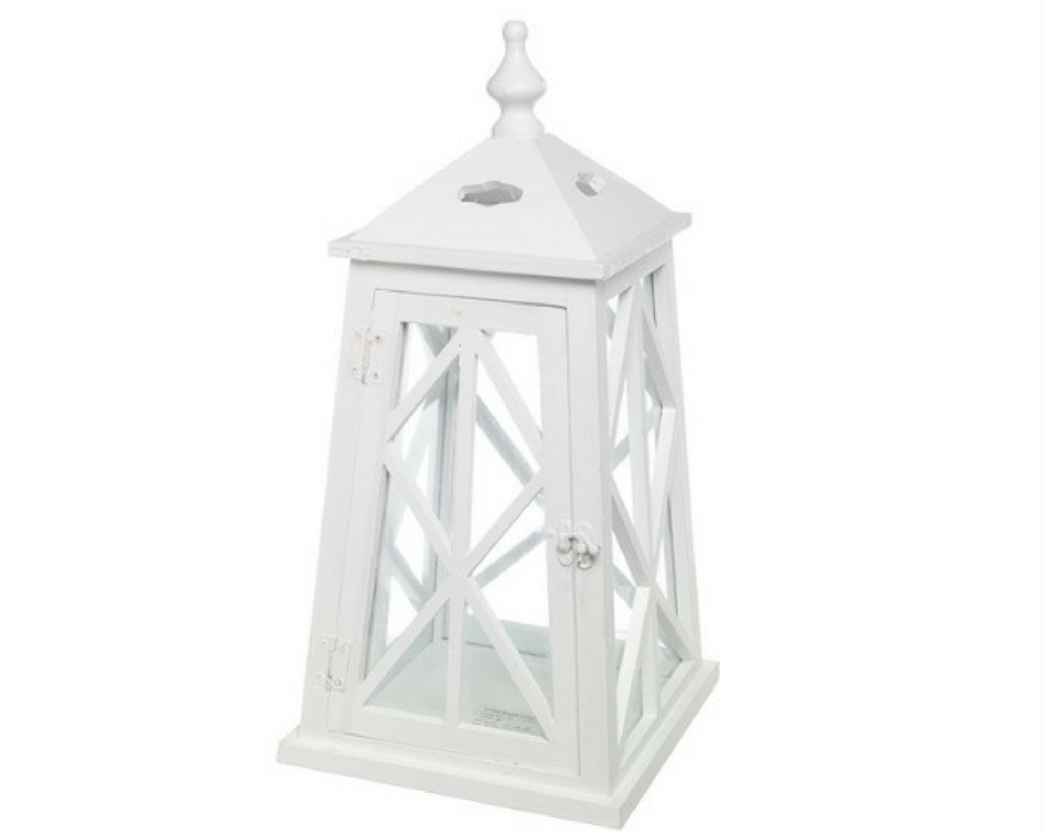 White wooden pyramid lantern - Splash Events, Noosa & Sunshine Coast