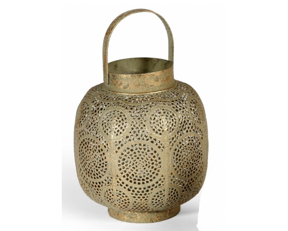 Dusty Gold Moroccan lantern - Splash Events, Noosa & Sunshine Coast