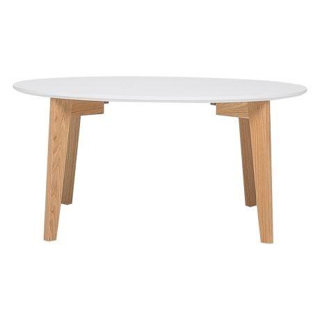 Round white coffee table wooden legs - Splash Events, Noosa & Sunshine Coast